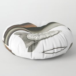 Chaetodon guttatus from Ichtylogie ou Histoire naturelle generale et particuliere des poissons (1785 Floor Pillow
