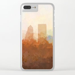 Jacksonville, Florida Skyline - In the Clouds Clear iPhone Case