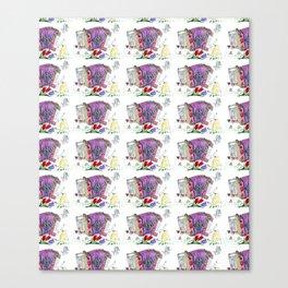 Decorative accordion Canvas Print
