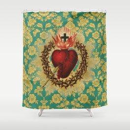 Sacred Heart LOVE Shower Curtain