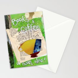 Books and Coffee Stationery Cards