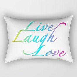 Live, Laugh, Love Rectangular Pillow