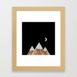 Digital Grain Mountains Framed Art Print