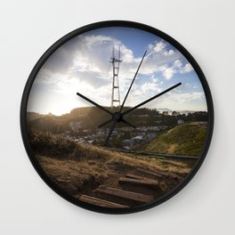 Follow Me To the Sunset Wall Clock