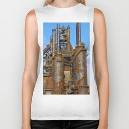 Bethlehem Steel Blast Furnace 1 Biker Tank