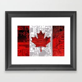 circuit board Canada (Flag) Framed Art Print