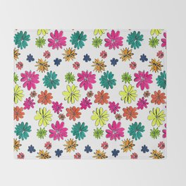 Blotted Flowers collection Throw Blanket