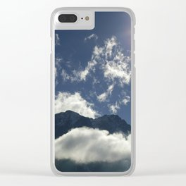 Clouds play over the Tyrolean Alps, color photo Clear iPhone Case