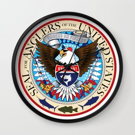 Seal For Anglers of the USA Wall Clock