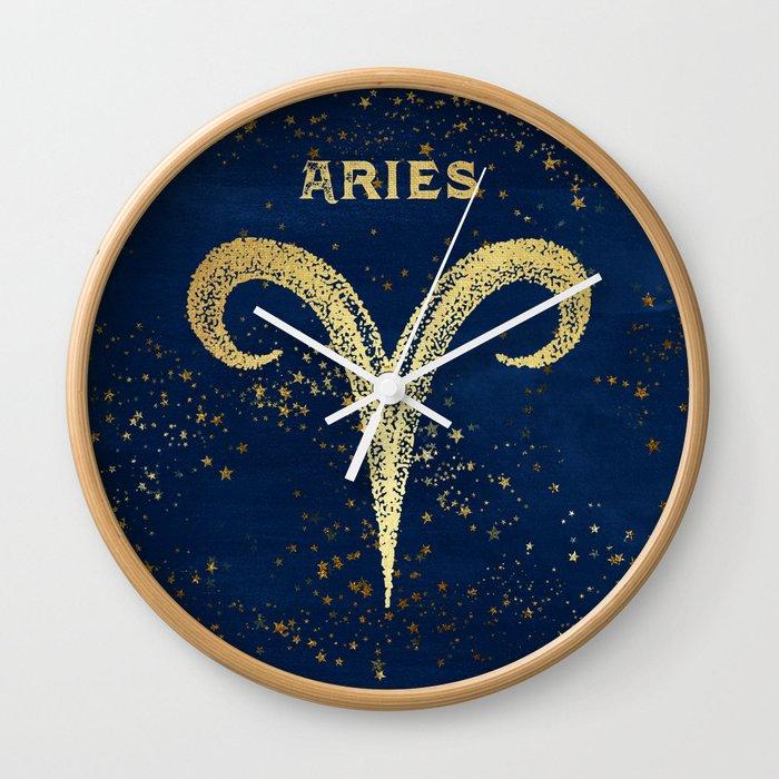 Aries Zodiac Sign Wall Clock