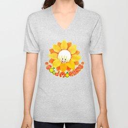 good morning sunflower boy Unisex V-Neck