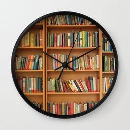 Bookshelf Books Library Bookworm Reading Wall Clock