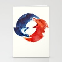christ Stationery Cards featuring Ying yang by Robert Farkas