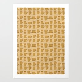 Coffee stained Art Print