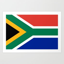 South African flag of South Africa Art Print