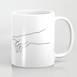 Creation of Adam Minimal Drawing Coffee Mug
