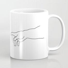 Creation of Adam Minimal Drawing Coffee Mug