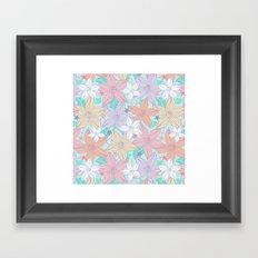 Dancing Spring flowers Framed Art Print