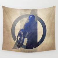 soldier Wall Tapestries featuring Avengers Assembled: The Soldier by Digital Theory