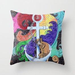 Monkey Sea Throw Pillow