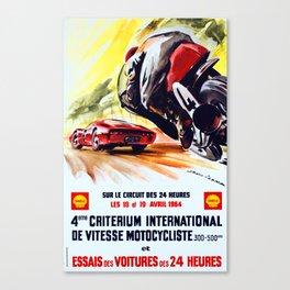 Criterium International De Vitesse - Vintage 1964 le Mans Poster Canvas Print