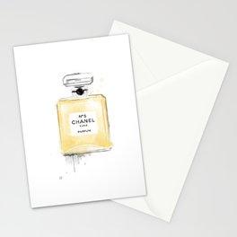 Perfume bottle fashion yellow Stationery Cards