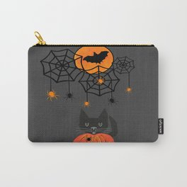Happy Halloween Pumpkin Moon Carry-All Pouch