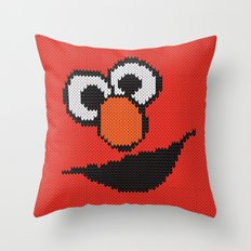 Knit Elmo Throw Pillow