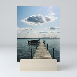 life on the lake in michigan Mini Art Print
