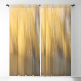 Soft Gold Weeping Willow Abstract Blackout Curtain