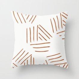 Fall vibe brush strokes Throw Pillow