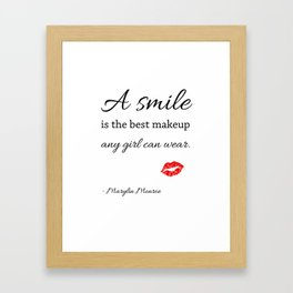 Marylin monroe Quote typography  Framed Art Print