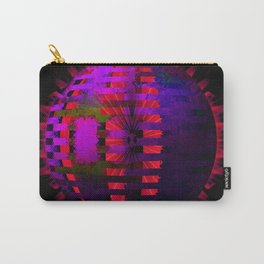 Purple Layered Star in Red Flames Carry-All Pouch