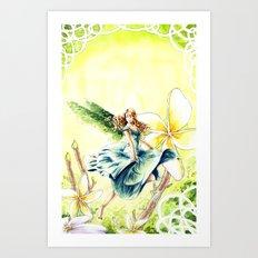 Spring faery Art Print