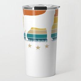 Vintage Bluetick Coonhound Silhouette Retro Sunset Pullover Hoodie Travel Mug