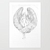 Nick's angel Art Print