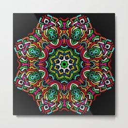 Mandala Pattern Cool Mandala Colorful Metal Print