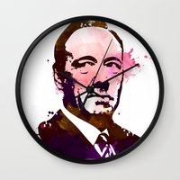 kevin russ Wall Clocks featuring KEVIN SPACEY by BIG Colours