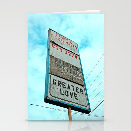 Greater love Stationery Cards