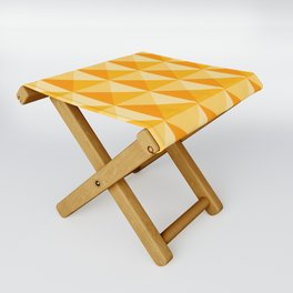 Geometric Prism in Sunshine Yellow Folding Stool