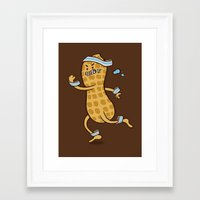health Framed Art Prints featuring Health Nut by Jelly Soup Studios