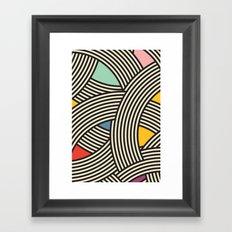Modern Scandinavian Multi Colour Color Curve Graphic Framed Art Print