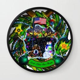 Freedom Wreath Wall Clock