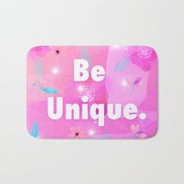 Be unique logo floral design Bath Mat