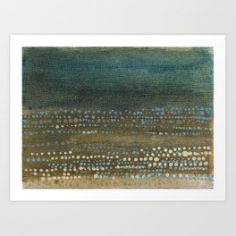 Landscape Dots - Night Art Print