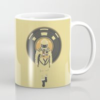 dj Mugs featuring DJ HAL 9000 by Robert Farkas