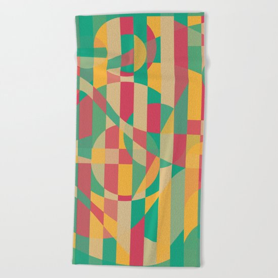 Abstract Graphic Art - Contemporary Music Beach Towel