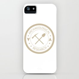 Archaeological research iPhone Case