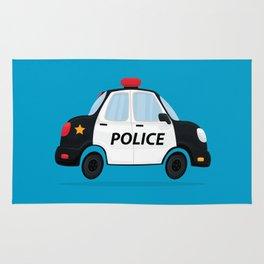 Cute Police Car Rug