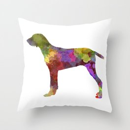 Wirehaired Slovakian Pointer  in watercolor-2 Throw Pillow